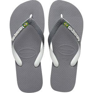 havaianas Brasil Mix Flips steel grey/white/white steel grey/white/white