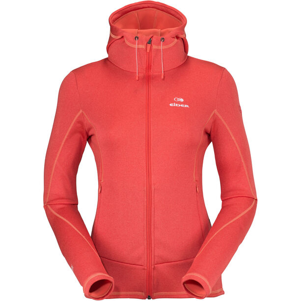 Eider Wonder Hoodie Damen hot coral cloudy