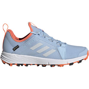 adidas TERREX Agravic Speed GTX Schuhe Damen glossy blue/footwear white/hi-res coral glossy blue/footwear white/hi-res coral