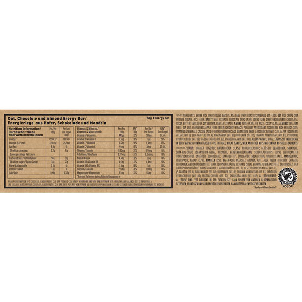CLIF Bar Energy Riegel Box 12x68g Chocolate Almond Fudge