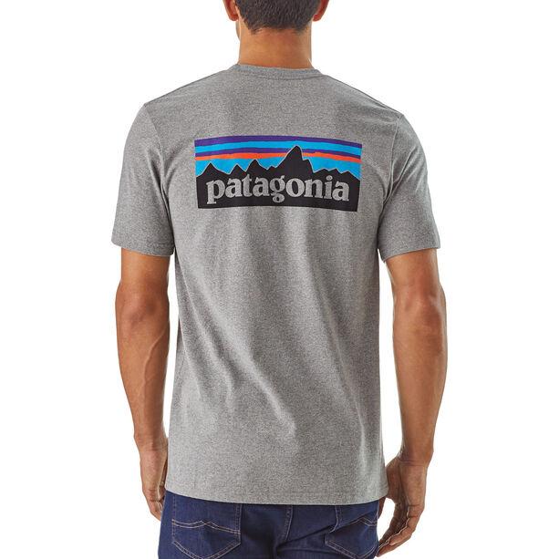 Patagonia P-6 Logo Responsibili-Tee Herren gravel heather