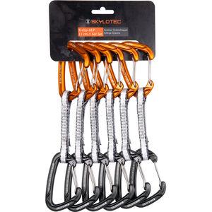 Skylotec X-Clip-Alp Quickdraw Set 11cm 6 Pieces dark grey/orange dark grey/orange