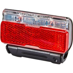 Busch + Müller Toplight Line Batterie-Rücklicht permanent 50mm schwarz/rot