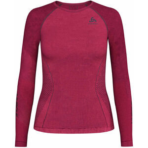 Odlo Performance Muscle L/S Top Crew Neck Suw Women diva pink/odyssey gray diva pink/odyssey gray