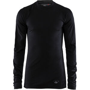Craft Merino Lightweight Crew Neck LS Herren black black