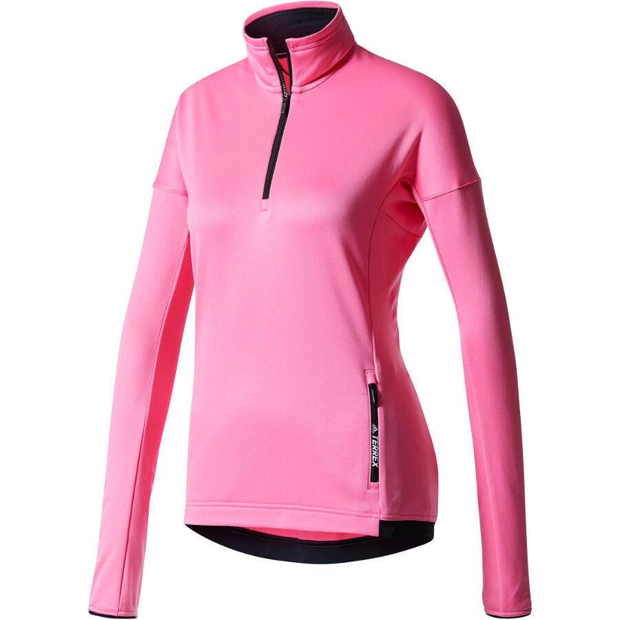 adidas TERREX Tivid 12 Zip Fleece Sweatshirt Damen tactile rose