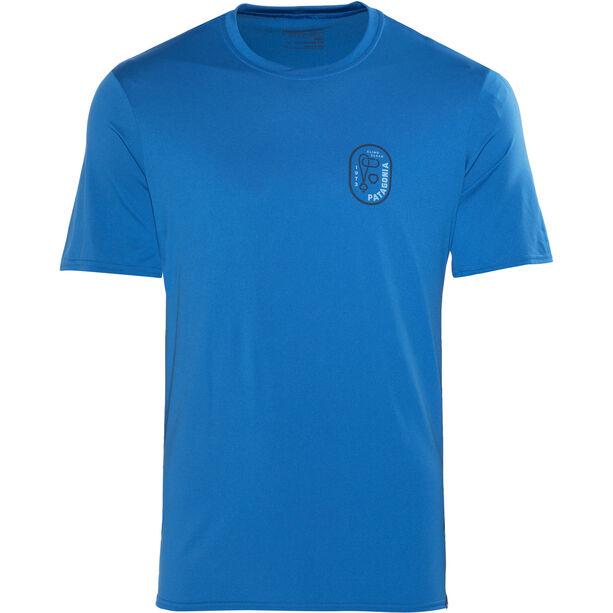 Patagonia Capilene Daily Graphic T-Shirt Herren climb clean rack:bandana blue