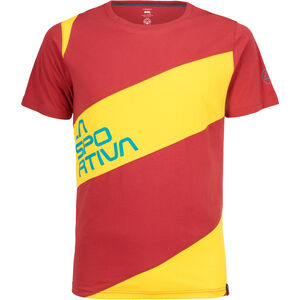La Sportiva Slab T-Shirt Herren cardinal red/lemonade cardinal red/lemonade