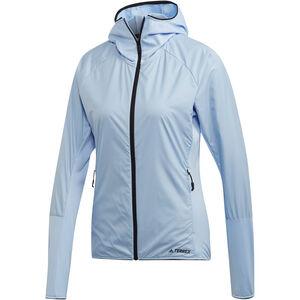 adidas TERREX Skyclimb Fleece Jacket Damen glossy blue glossy blue