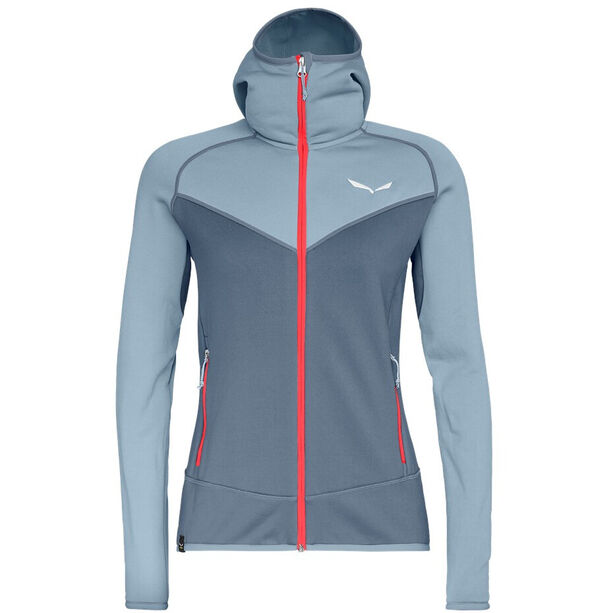 SALEWA Puez 3 PowerLite Full-Zip Hoodie Damen blue fog