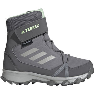 adidas TERREX Snow High Shoes Kinder grey three/grey two/glow green grey three/grey two/glow green