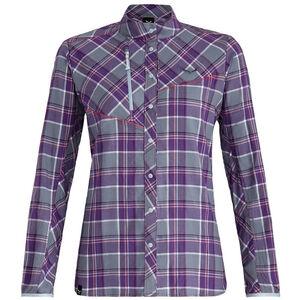 SALEWA Fanes 4 PolarLite Flannel Langarmshirt Damen M flint stone/pansy/white M flint stone/pansy/white