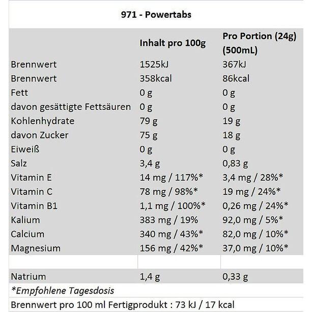 Isostar Powertabs 120g Zitrone