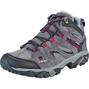 Hi-Tec Ravus Vent Mid WP Shoes Damen charcoal/cool grey/amaranth charcoal/cool grey/amaranth