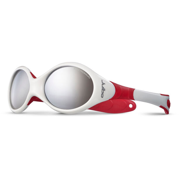 Julbo Looping II Spectron 4 Sonnenbrille 12-24M Kinder white/red-gray flash silver
