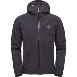 Black Diamond Fineline Stretch Rain Shell Jacket Herren black black
