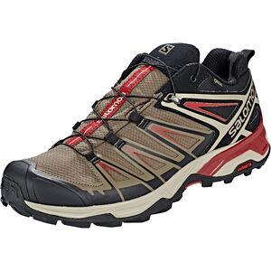 Salomon X Ultra 3 GTX Hiking Shoes Herren bungee cord/vintage kaki/red dahlia