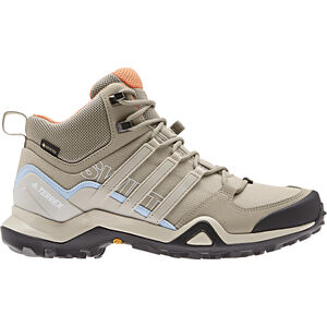 adidas TERREX Swift R2 GTX Outdoor Mid-Shoes Damen trace khaki/collegiate brown/glossy blue trace khaki/collegiate brown/glossy blue