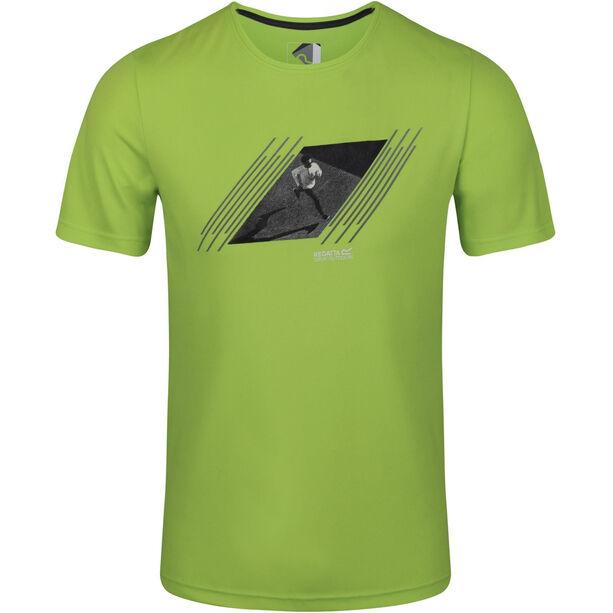 Regatta Breezed T-Shirt Herren electric lime