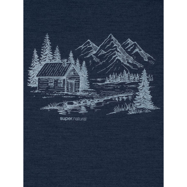 super.natural Graphic T-Shirt Herren blue iris melange/fresh white