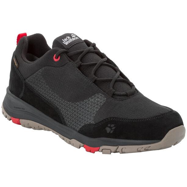 Jack Wolfskin Activate XT Texapore Low Schuhe Herren black/red