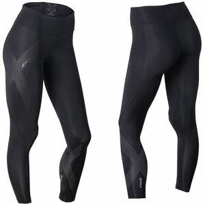 2XU Mid-Rise Compression Tights long Damen black/dotted reflective logo black/dotted reflective logo