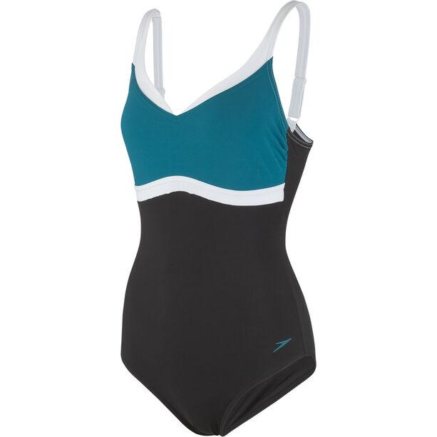 speedo Aquajewel Swimsuit Damen black/blue