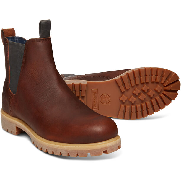 "Timberland Icon Collection Premium Chelsea Boots 6"" Herren medium brown full-grain"
