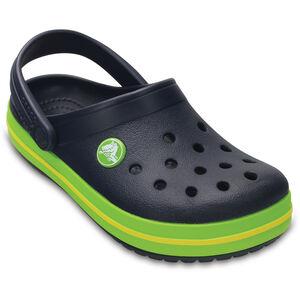 Crocs Crocband Clogs Kinder navy/volt green