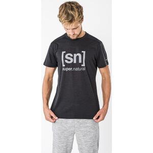 super.natural Essential I.D. T-Shirt Herren jet black melange/vapor grey logo jet black melange/vapor grey logo