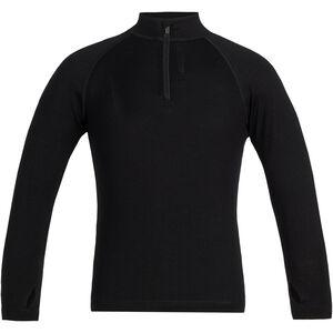 Icebreaker 260 Tech Langarm Half Zip Shirt Kinder black black