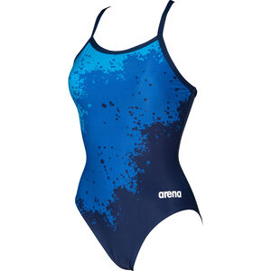 arena Spraypaint Light Drop Back One Piece Badeanzug Damen navy/navy navy/navy