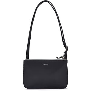 Pacsafe Stylesafe Double Zip Crossbody Bag Damen black black