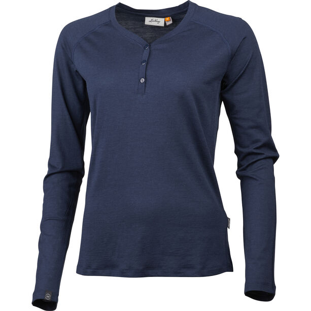 Lundhags Gimmer Merino Light Henley Damen deep blue