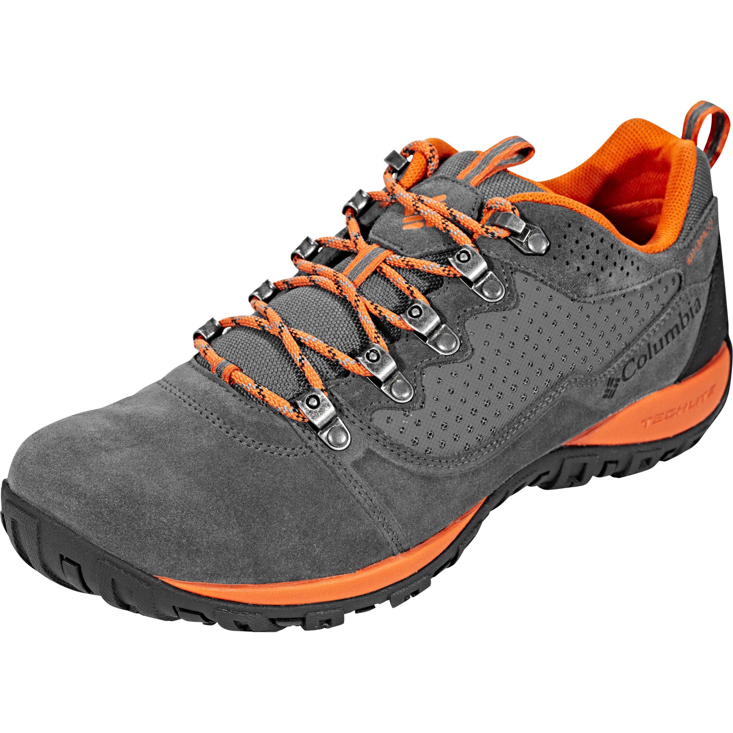 Columbia Peakfreak Venture Low Suede WP Shoes Herren GraphiteDesert Sun