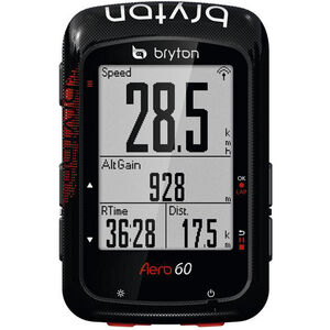 Bryton Aero 60 Fahrradcomputer Bundle schwarz schwarz