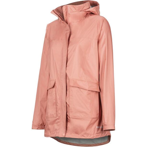 Marmot Ashbury PreCip Eco Jacket Damen coral pink