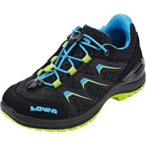 Lowa Maddox Low Shoes Kinder black/lime black/lime
