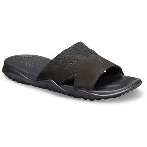 Crocs Swiftwater Lederslides Herren black/black black/black