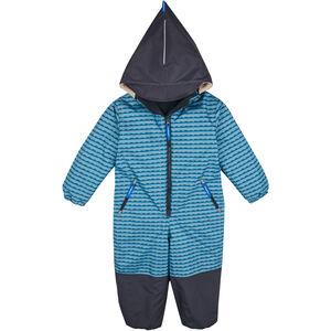 Finkid Turva Verstärkter Winter Overall mit abnehmbarer Kapuze Kinder pebbles blue/navy pebbles blue/navy