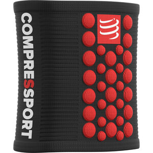 Compressport 3D Dots Sweatbands black-red black-red