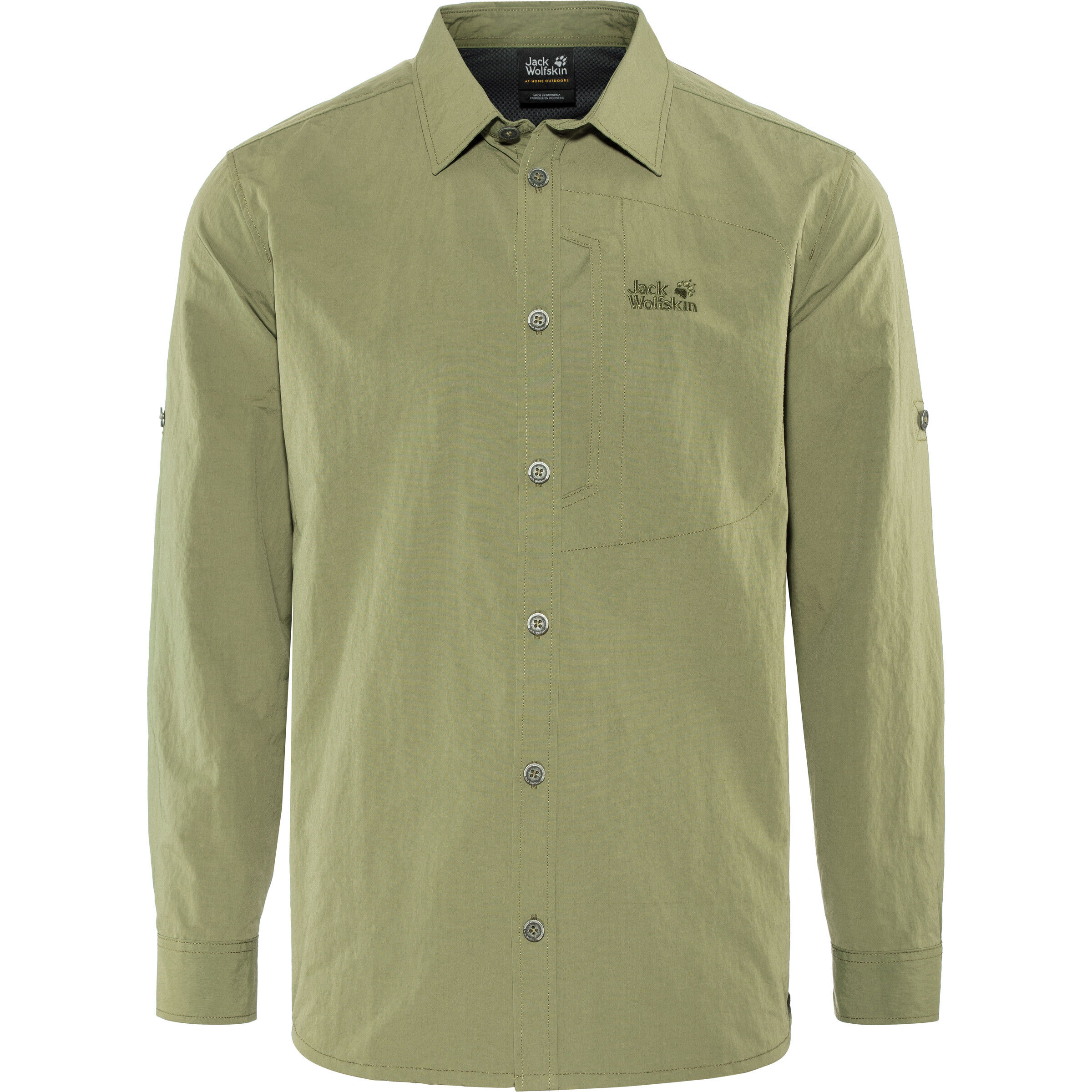 Up Lakeside Woodland Herren Roll Jack Wolfskin Green Shirt PXZiwTkOu