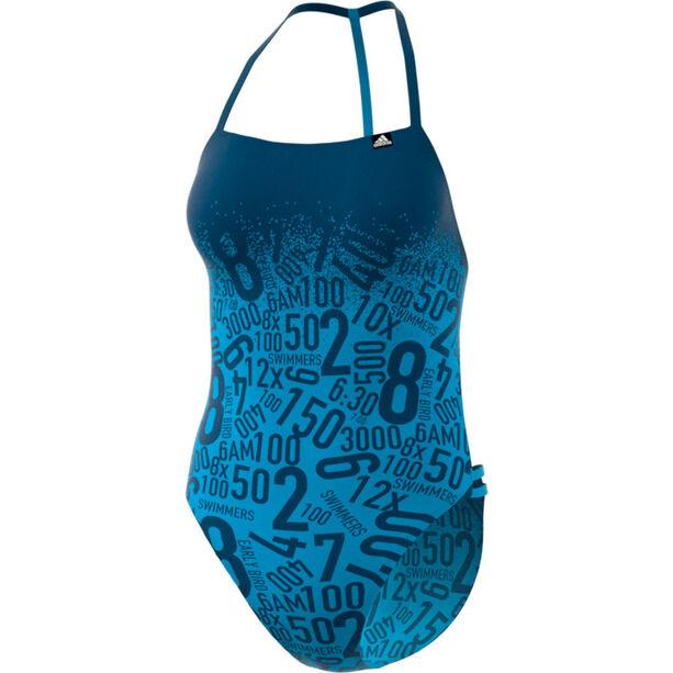 adidas Pro EBS Swimsuit Damen shock cyan