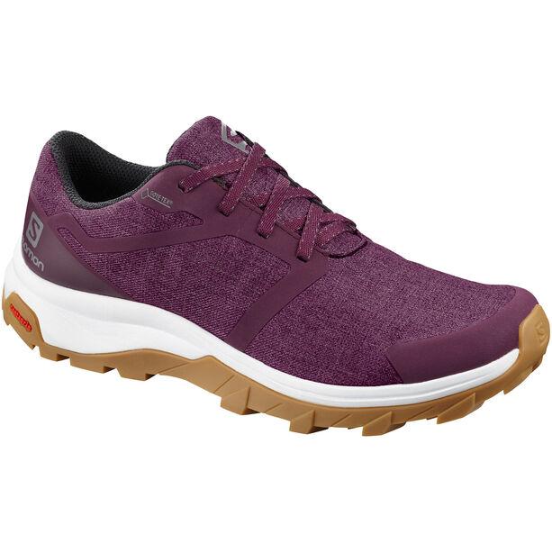 Salomon Outbound GTX Schuhe Damen potent purple/white/gum1a