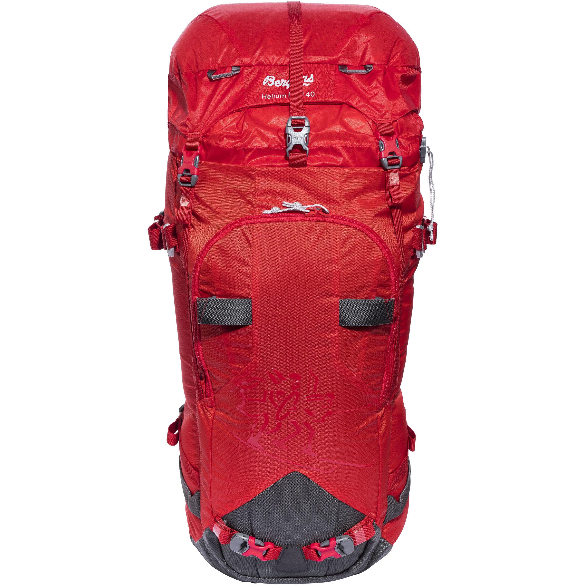 Bergans Helium Pro 40 Backpack RedSolid Grey