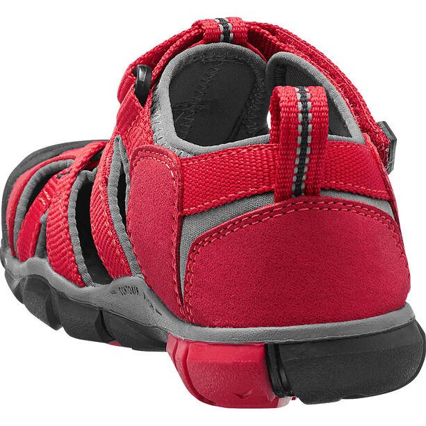 Keen Seacamp II CNX Sandals Kinder racing red/gargoyle