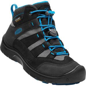 Keen Hikeport Mid WP Shoes Kinder black/blue jewel black/blue jewel