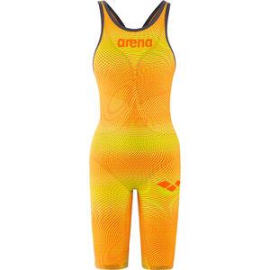 arena Powerskin Carbon Air2 Full Body Short Leg Oper Back Badeanzug Damen lime/orange lime/orange