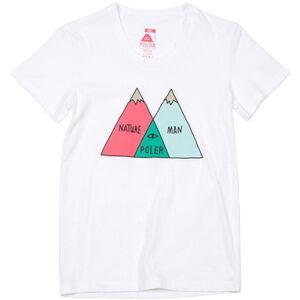 POLER Venn T-Shirt Damen white