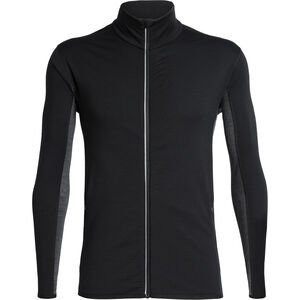 Icebreaker Delta LS Zip Shirt Herren black/jet heather black/jet heather